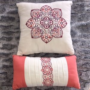 Other - Bundle of 2 Sewn Mandala Design Throw Pillows